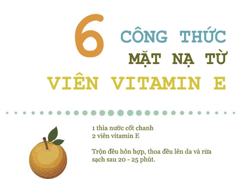 Công thức mặt nạ dưỡng da với dầu vitamin E