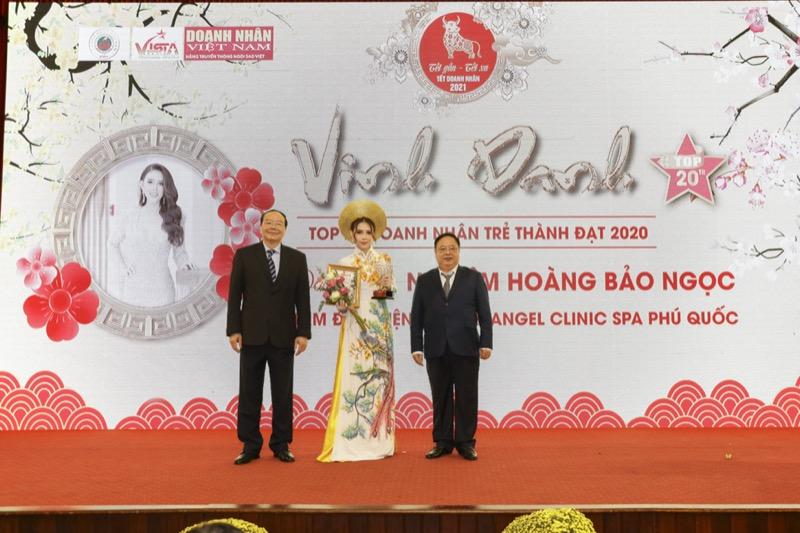Đại sứ hình ảnh Nghiêm Hoàng Bảo Ngọc vinh dự đạt Top20 Doanh nhân trẻ thành đạt 2020